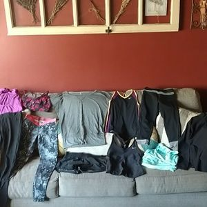 11 women's sz XS work out athletic wear items